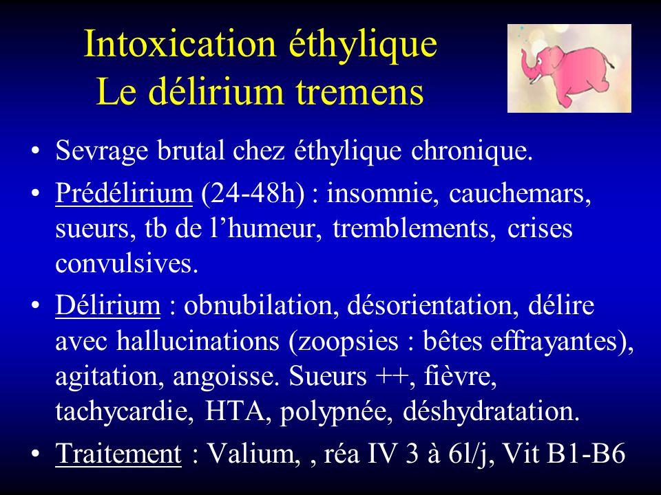 Intoxication éthylique Le délirium tremens