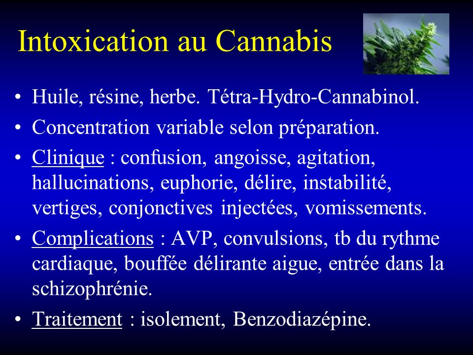 Intoxication au Cannabis