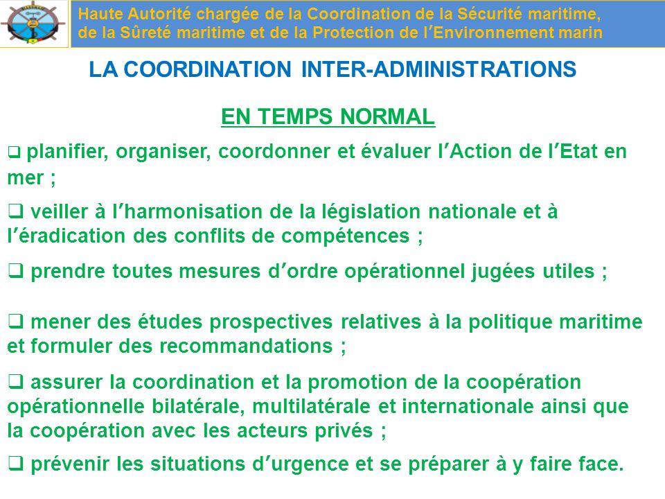 LA COORDINATION INTER-ADMINISTRATIONS