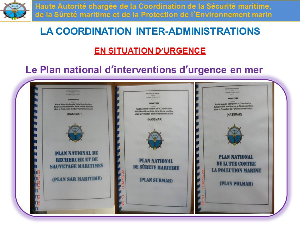LA COORDINATION INTER-ADMINISTRATIONS EN SITUATION D'URGENCE