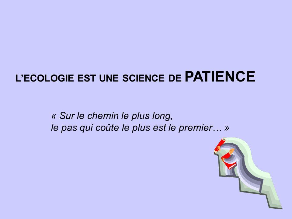 L'ECOLOGIE EST UNE SCIENCE DE PATIENCE