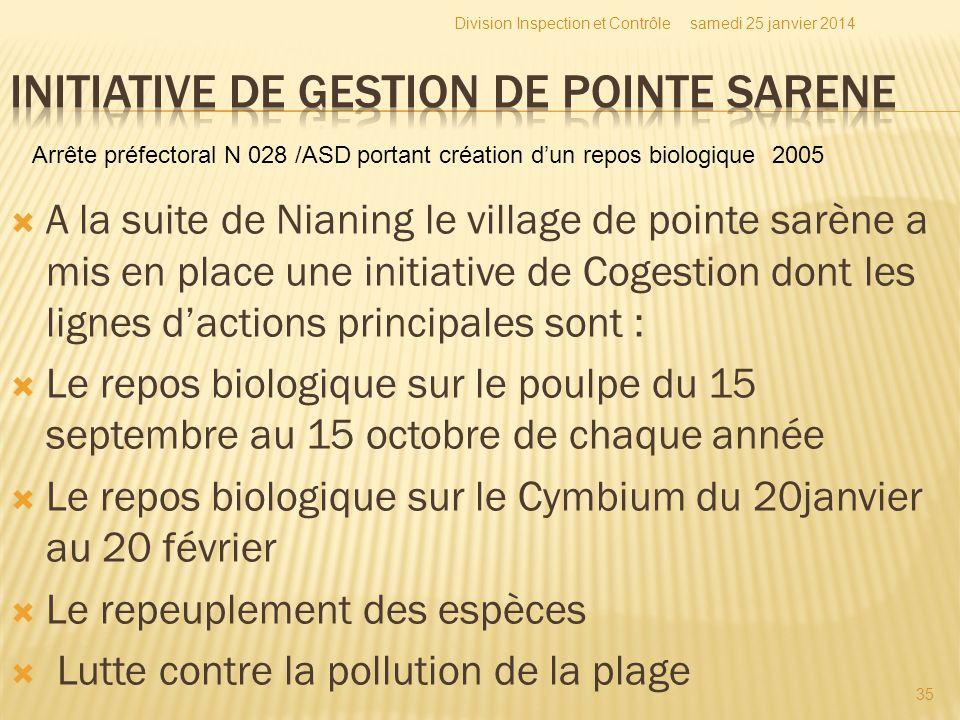Initiative de gestion de Pointe Sarene