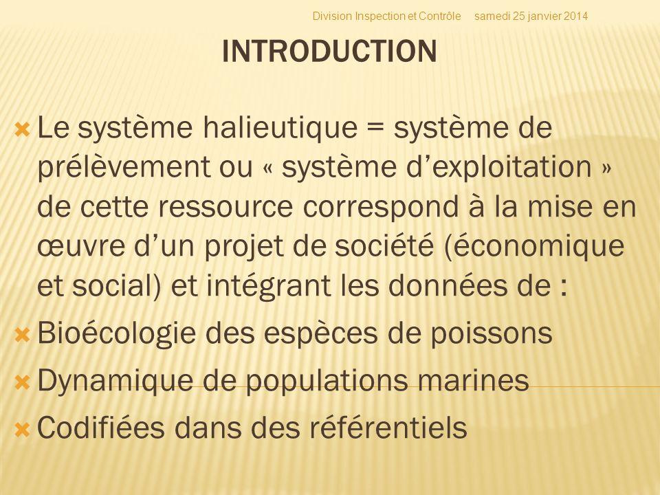 Bioécologie des espèces de poissons Dynamique de populations marines