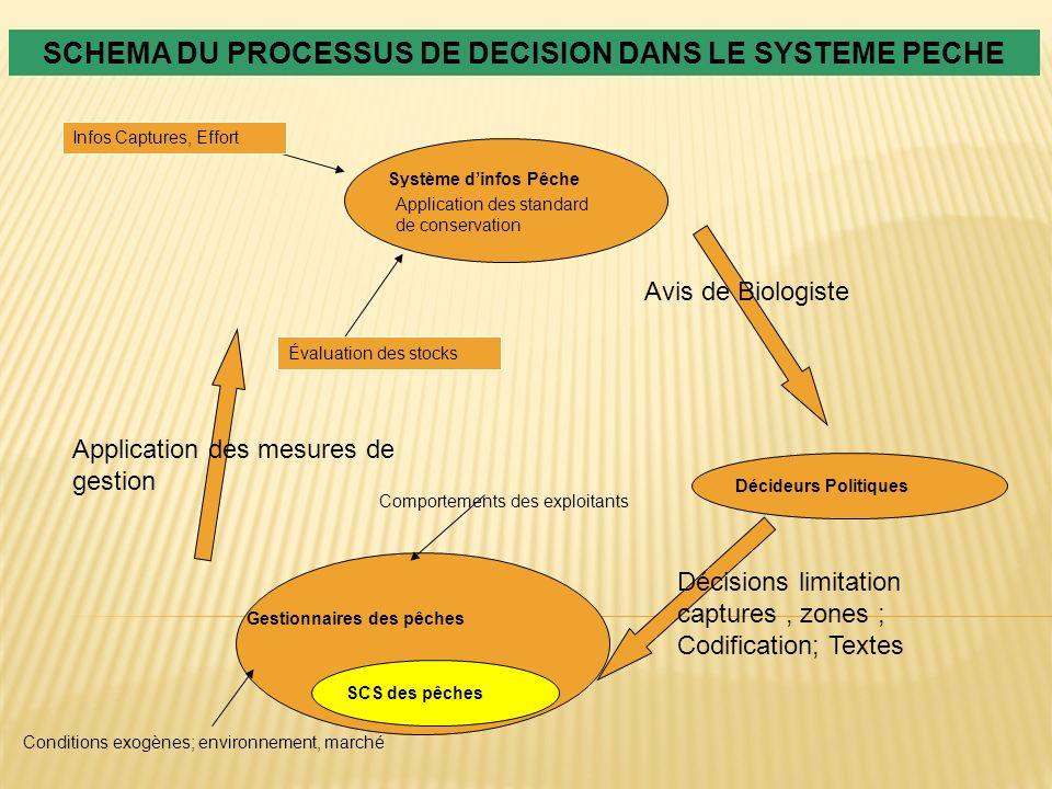 SCHEMA DU PROCESSUS DE DECISION DANS LE SYSTEME PECHE