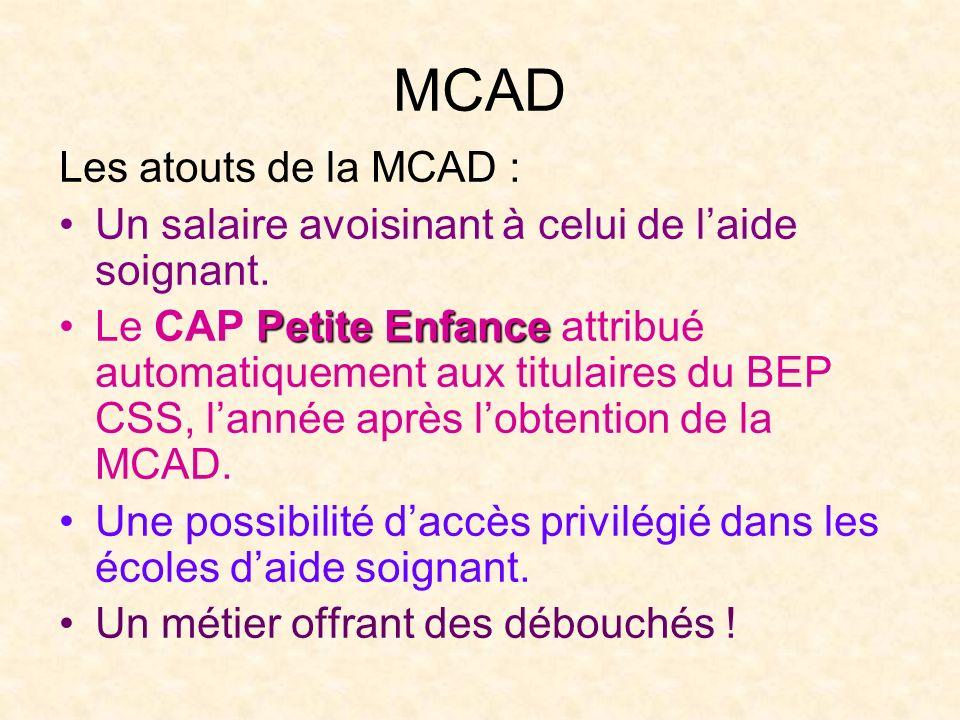 MCAD Les atouts de la MCAD :