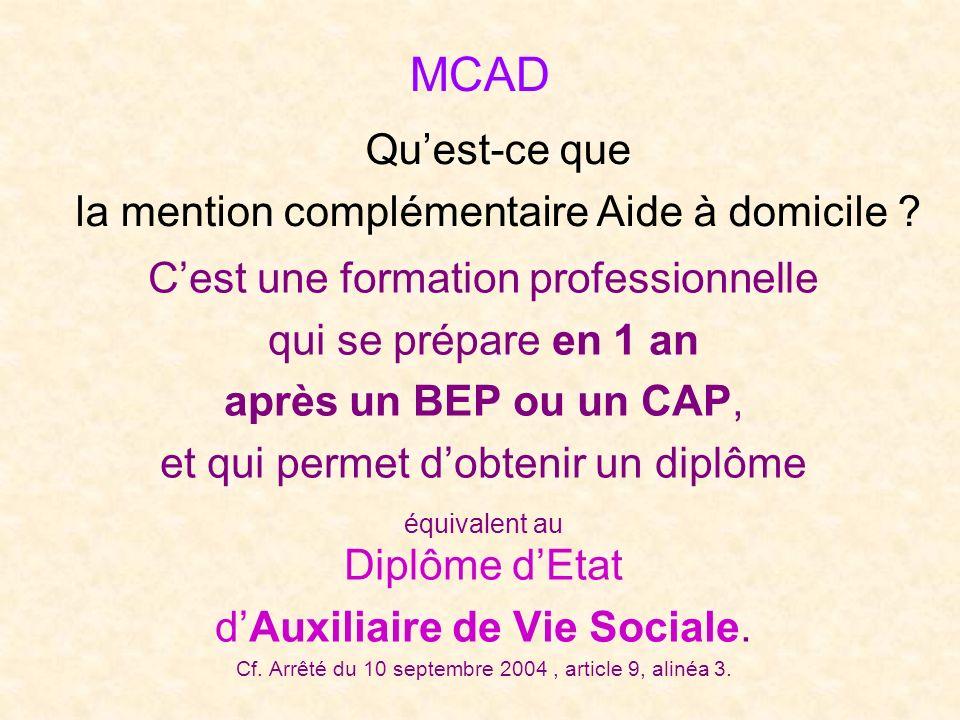 MCAD Qu'est-ce que la mention complémentaire Aide à domicile