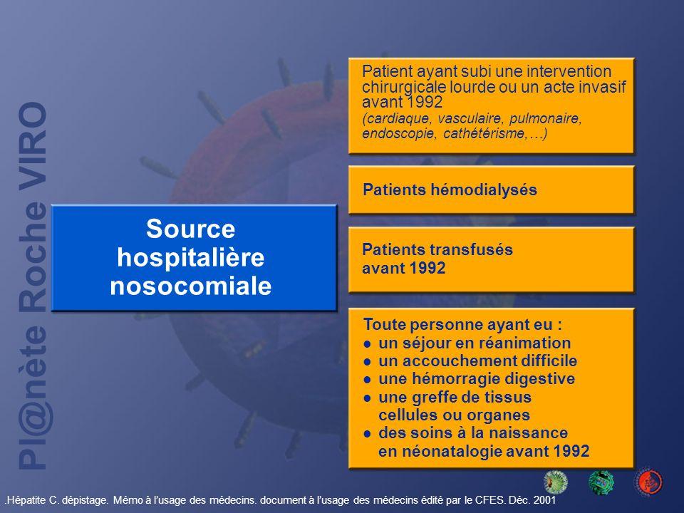 Source hospitalière nosocomiale