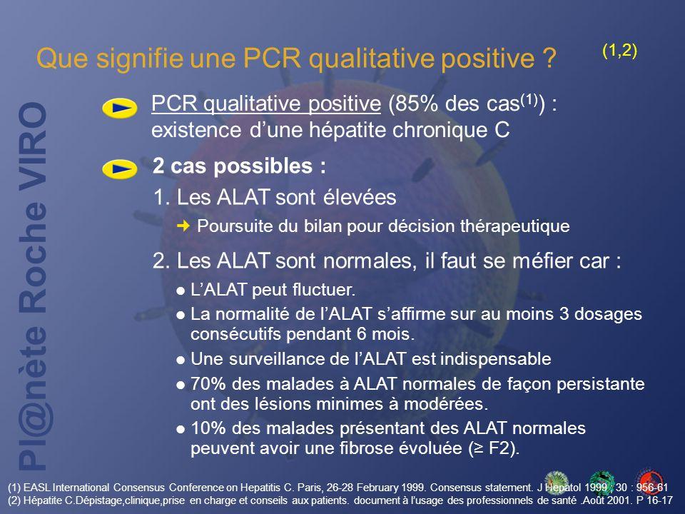 Que signifie une PCR qualitative positive