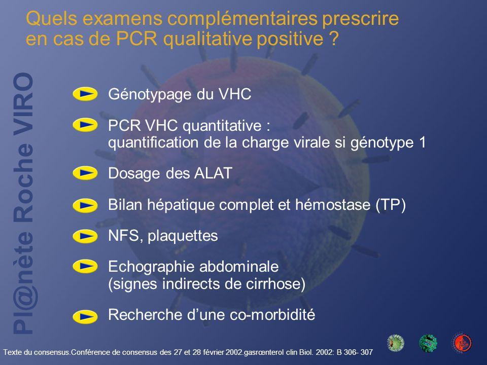 Quels examens complémentaires prescrire en cas de PCR qualitative positive