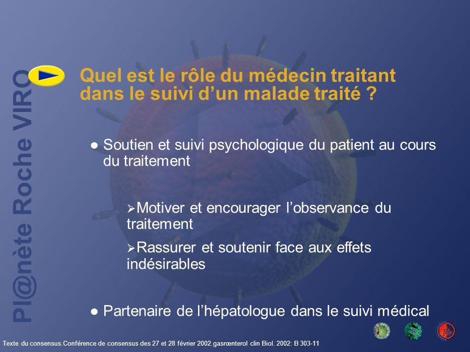 Quel est le rôle du médecin traitant dans le suivi d'un malade traité