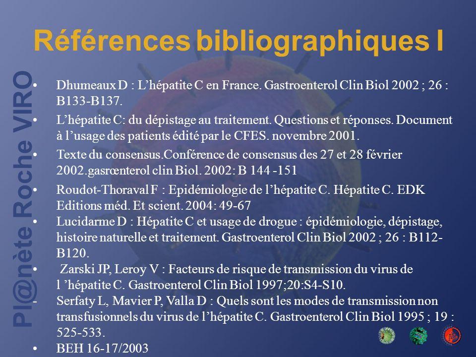 Références bibliographiques I