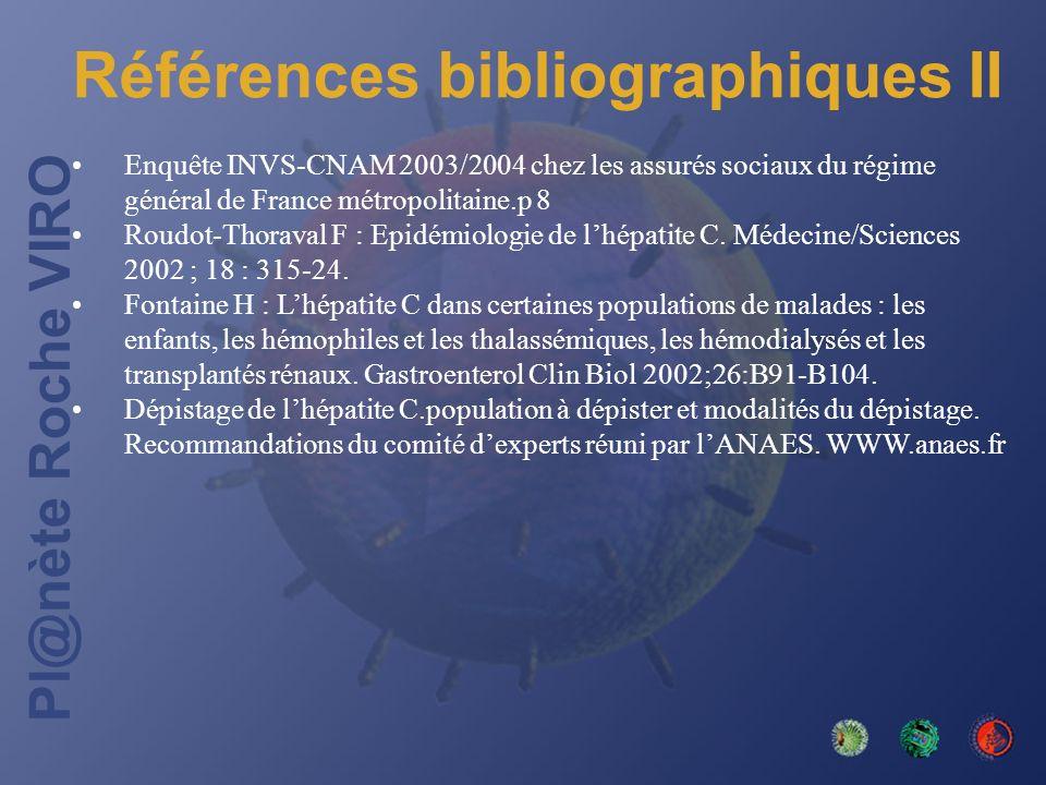 Références bibliographiques II