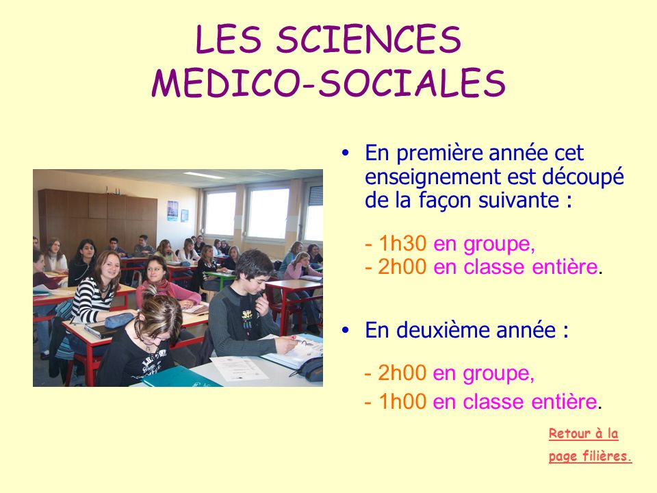 LES SCIENCES MEDICO-SOCIALES