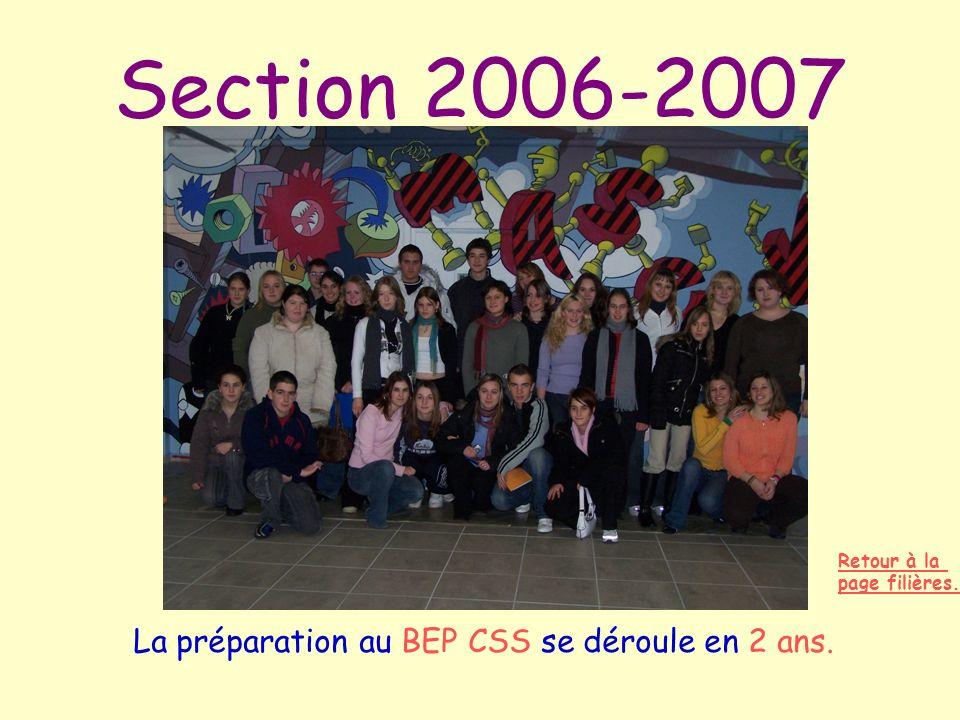La préparation au BEP CSS se déroule en 2 ans.