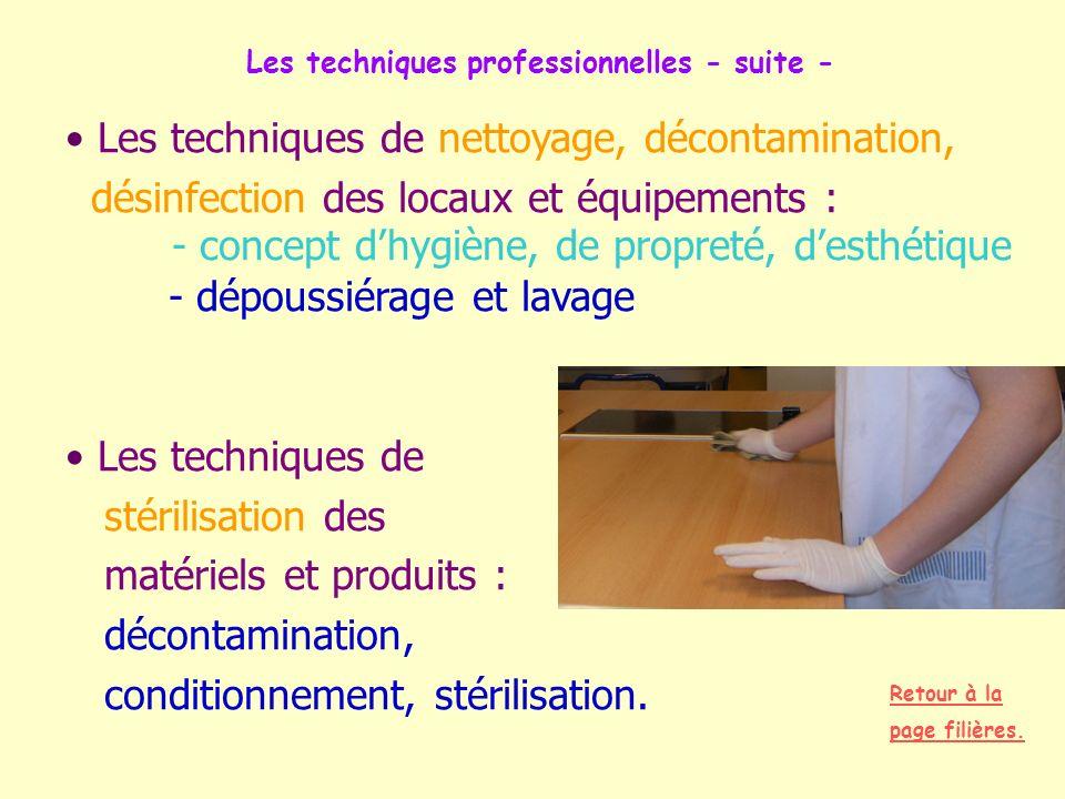 Les techniques professionnelles - suite -