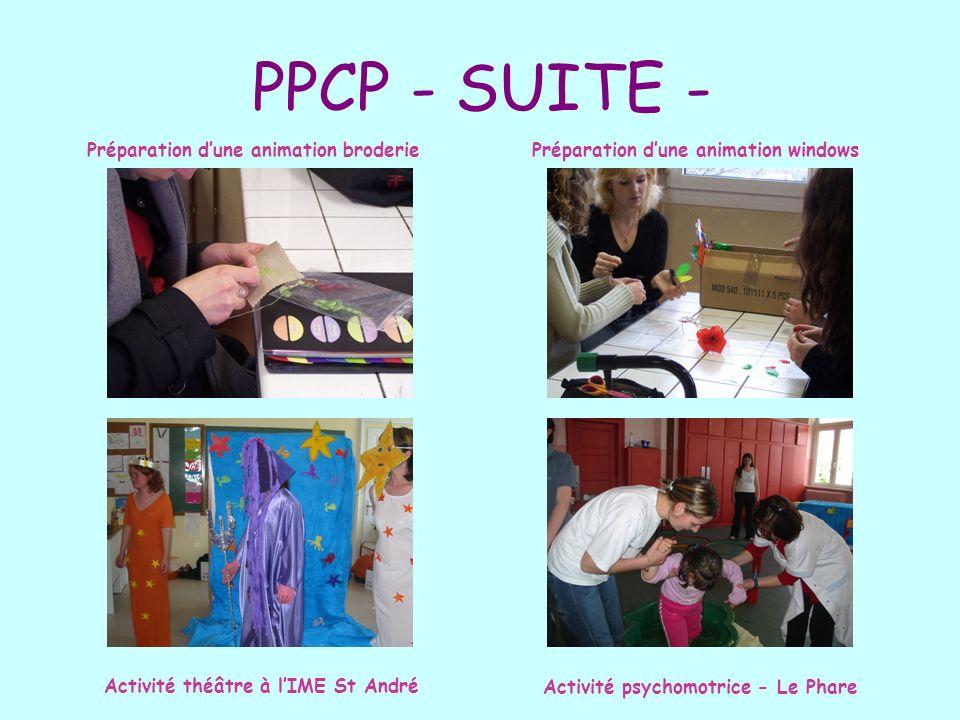 PPCP - SUITE - Préparation d'une animation broderie