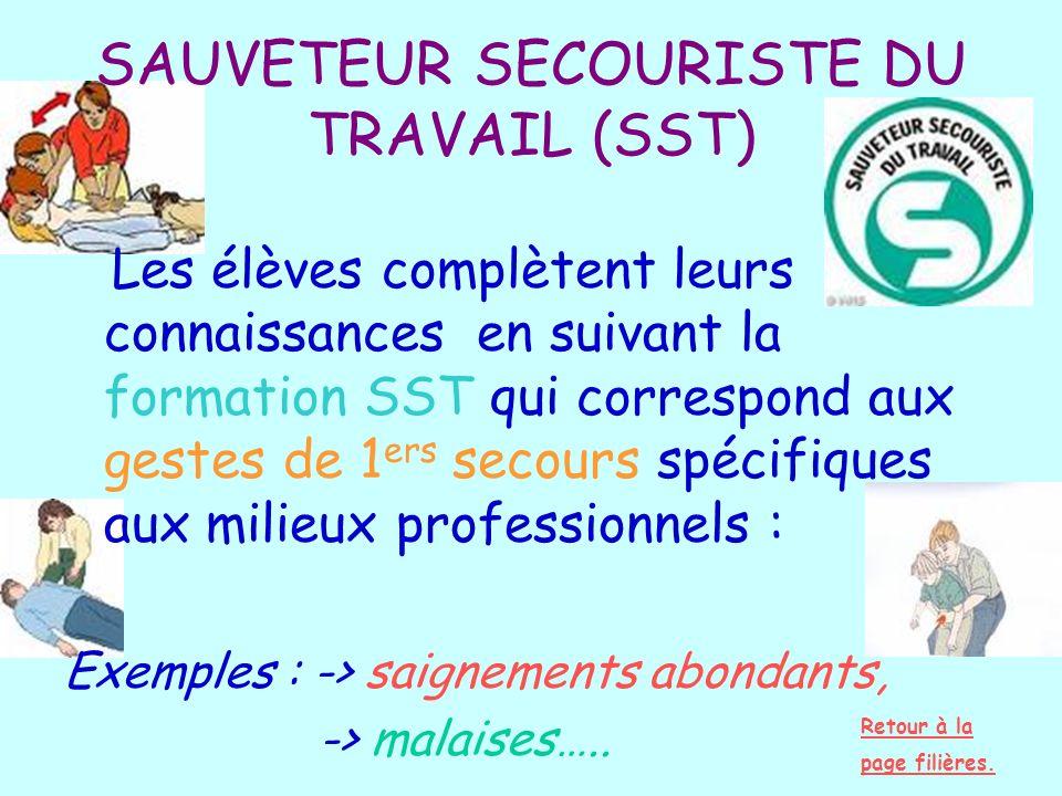 SAUVETEUR SECOURISTE DU TRAVAIL (SST)