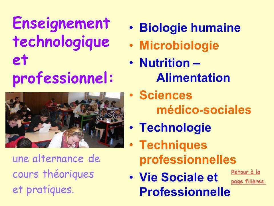 Enseignement technologique et professionnel: