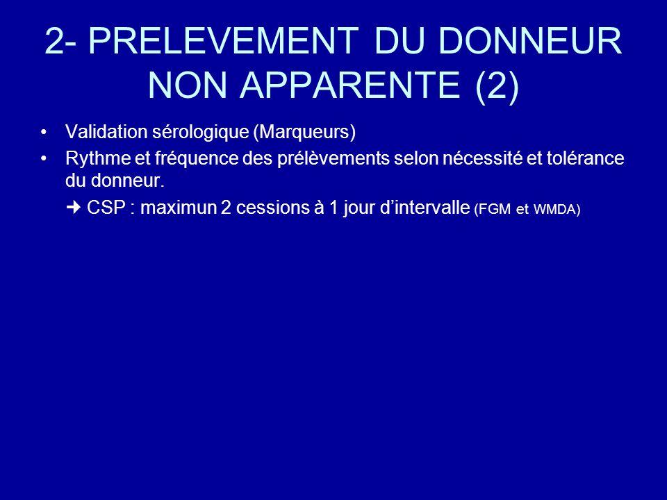 2- PRELEVEMENT DU DONNEUR NON APPARENTE (2)