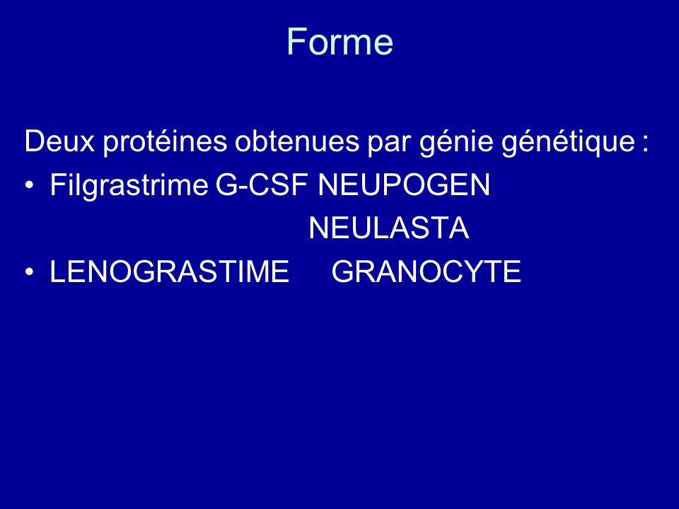 Forme Deux protéines obtenues par génie génétique :