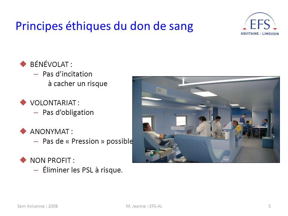 Principes éthiques du don de sang