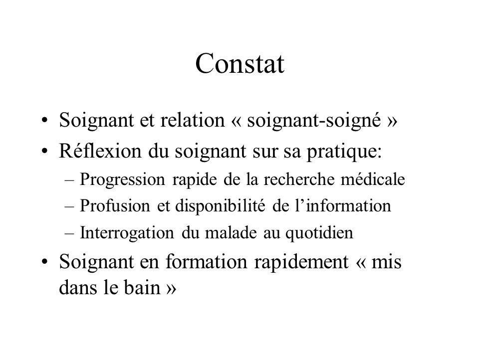 Constat Soignant et relation « soignant-soigné »