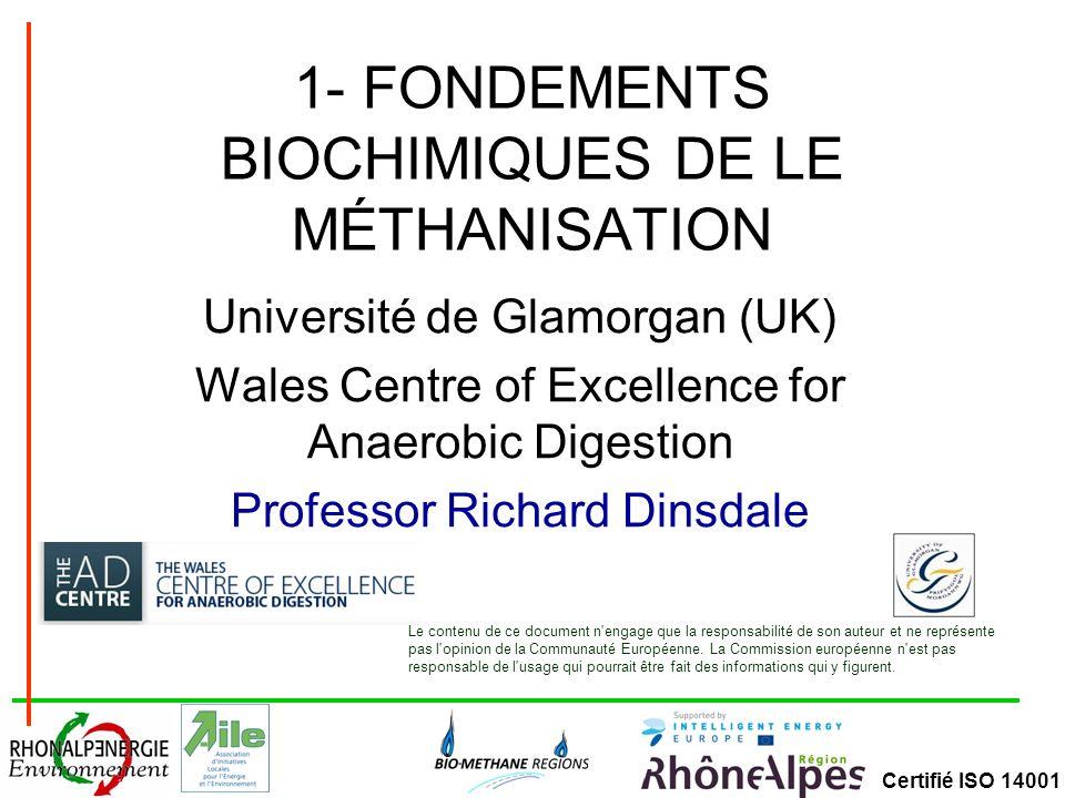 1- FONDEMENTS BIOCHIMIQUES DE LE MÉTHANISATION