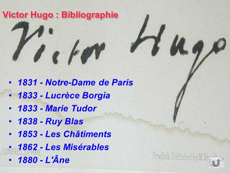 Victor Hugo : Bibliographie