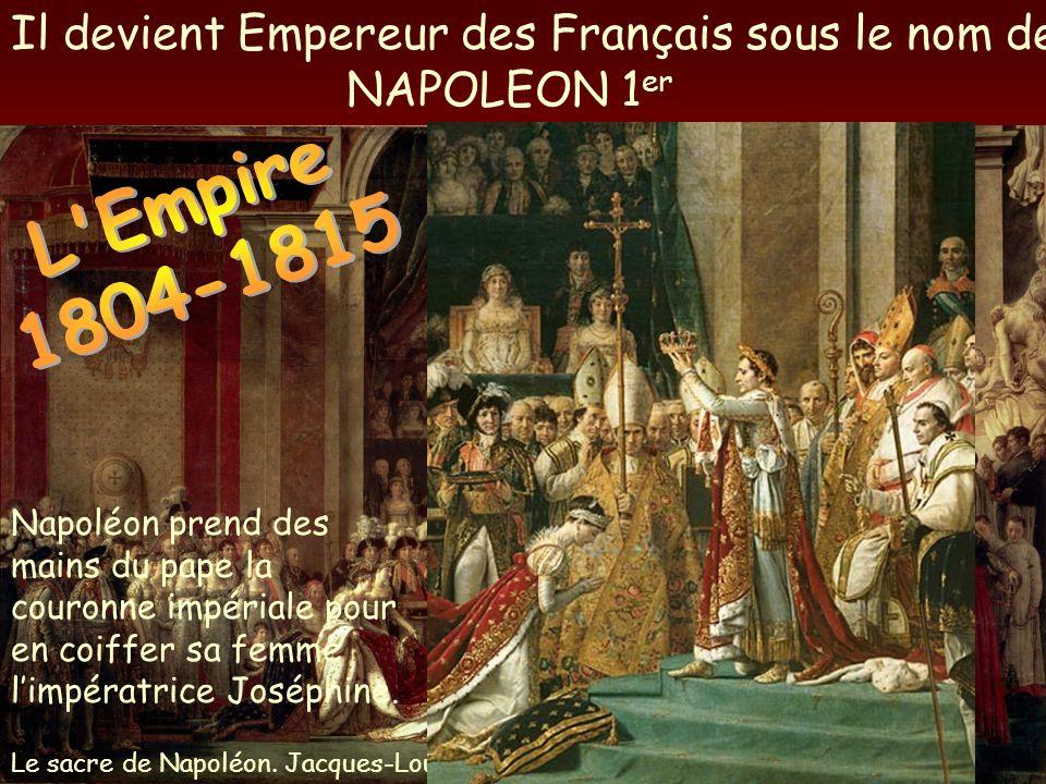 L Empire 1804-1815 Il devient Empereur des Français sous le nom de