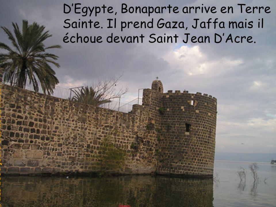 D'Egypte, Bonaparte arrive en Terre Sainte