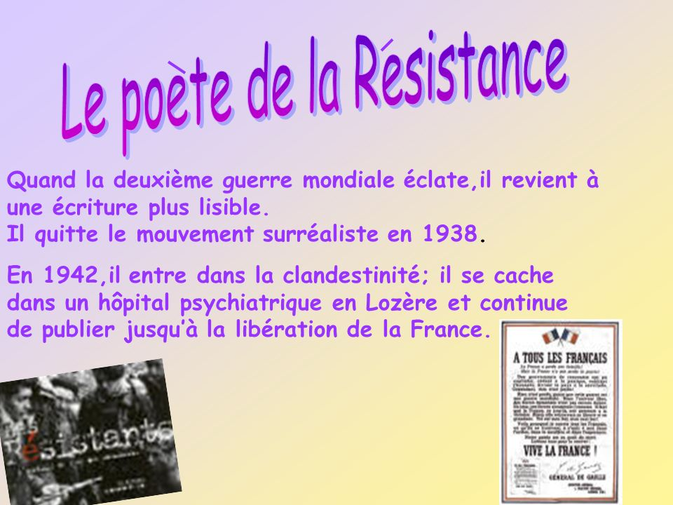 Le poete de la Resistance