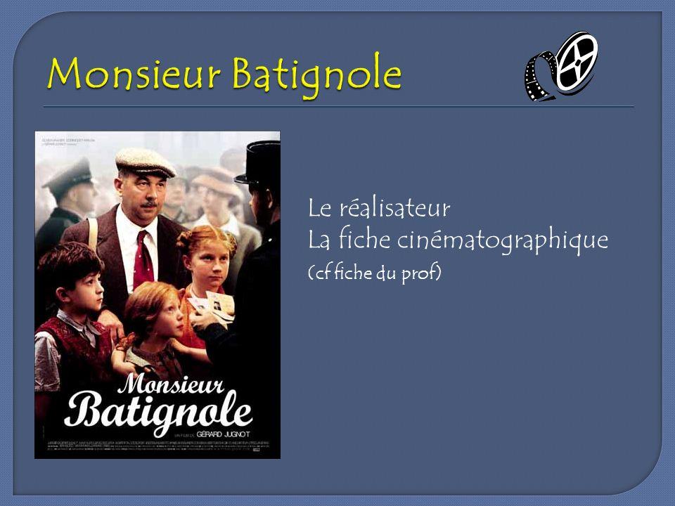 Monsieur Batignole Le réalisateur La fiche cinématographique