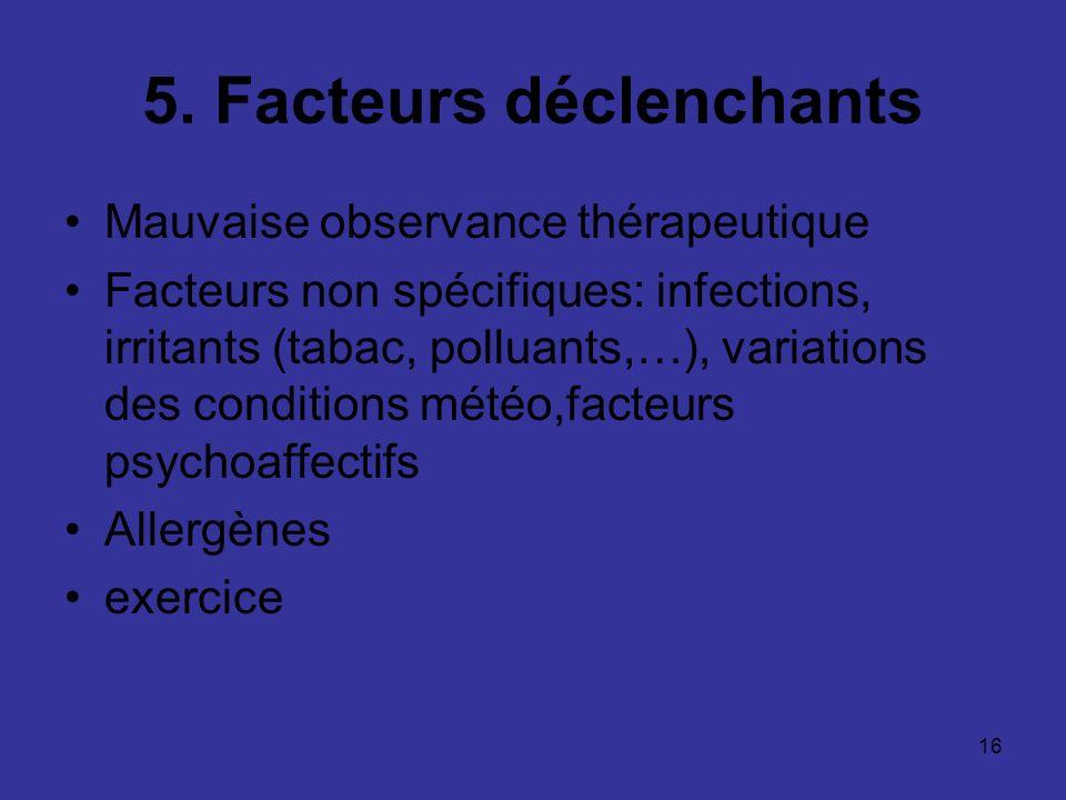 5. Facteurs déclenchants