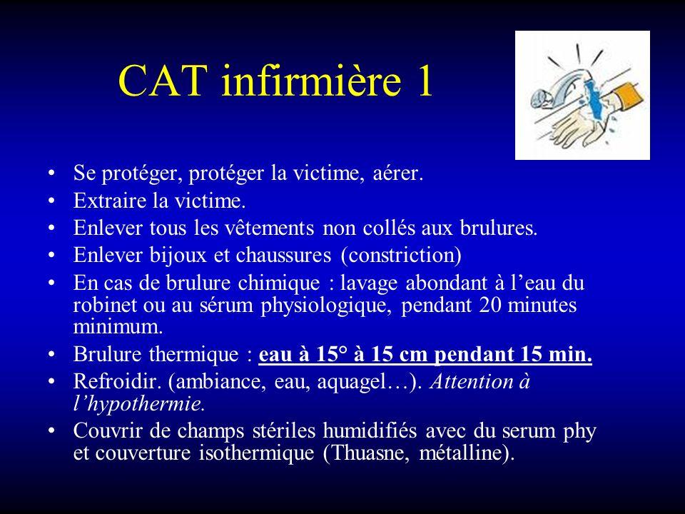 CAT infirmière 1 Se protéger, protéger la victime, aérer.