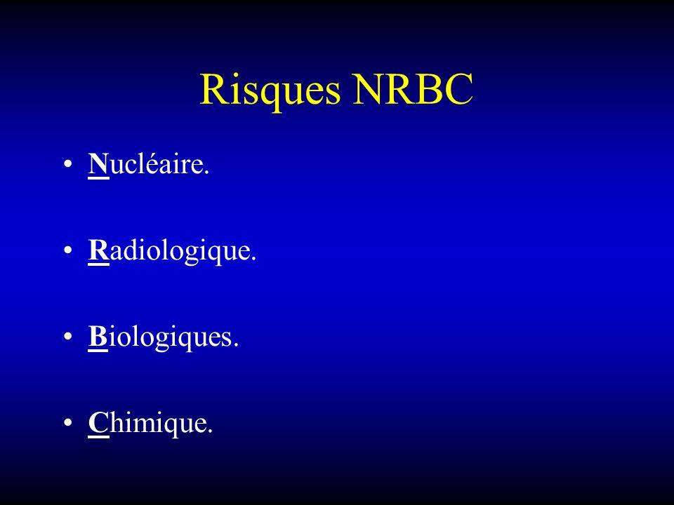 Risques NRBC Nucléaire. Radiologique. Biologiques. Chimique.