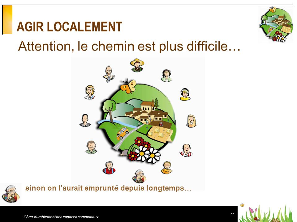 Attention, le chemin est plus difficile…