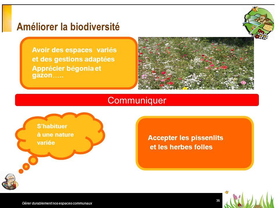 Améliorer la biodiversité