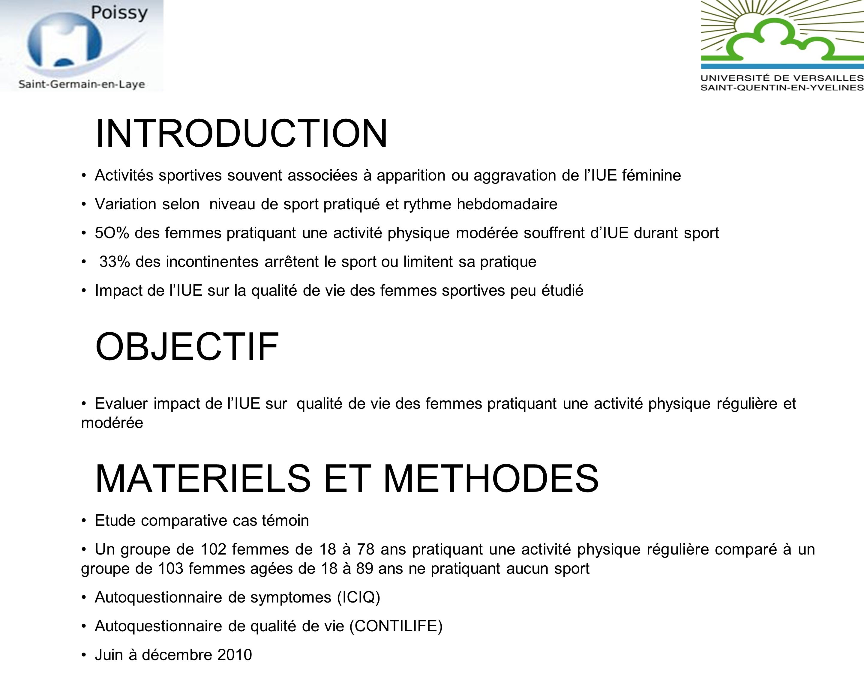 INTRODUCTION OBJECTIF MATERIELS ET METHODES