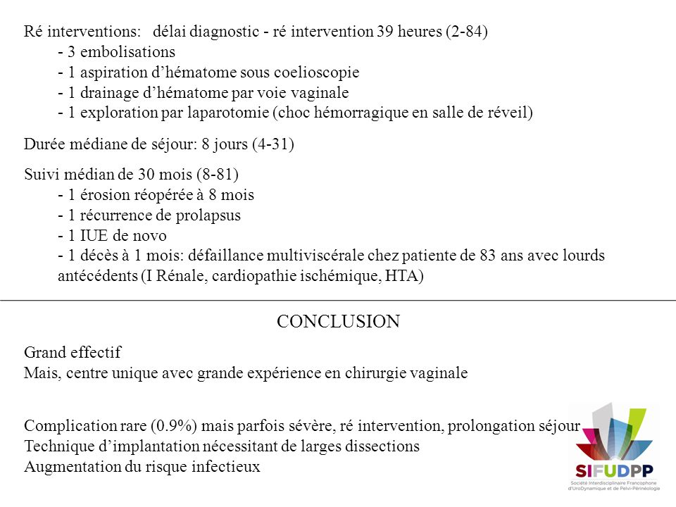 Ré interventions: délai diagnostic - ré intervention 39 heures (2-84)