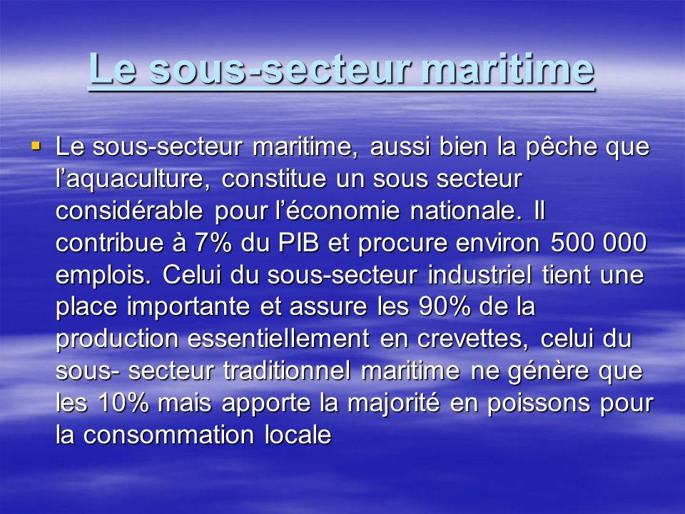 Le sous-secteur maritime