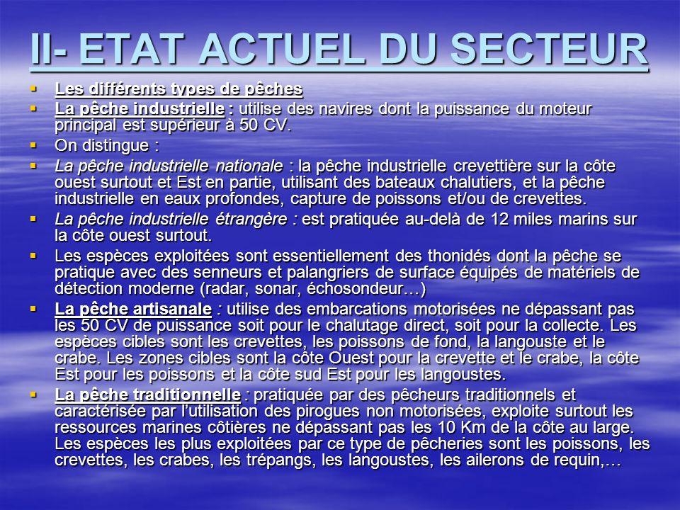 II- ETAT ACTUEL DU SECTEUR