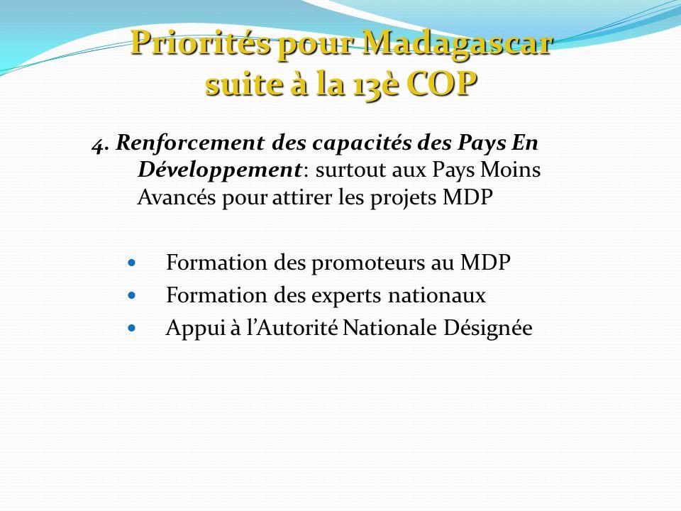 Priorités pour Madagascar suite à la 13è COP