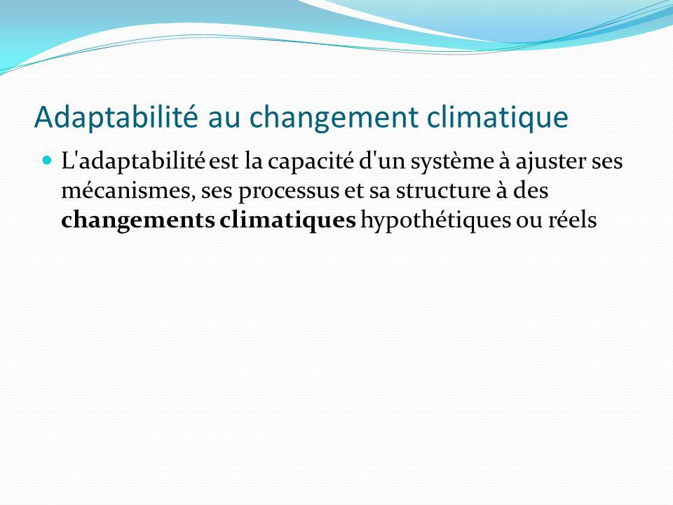 Adaptabilité au changement climatique