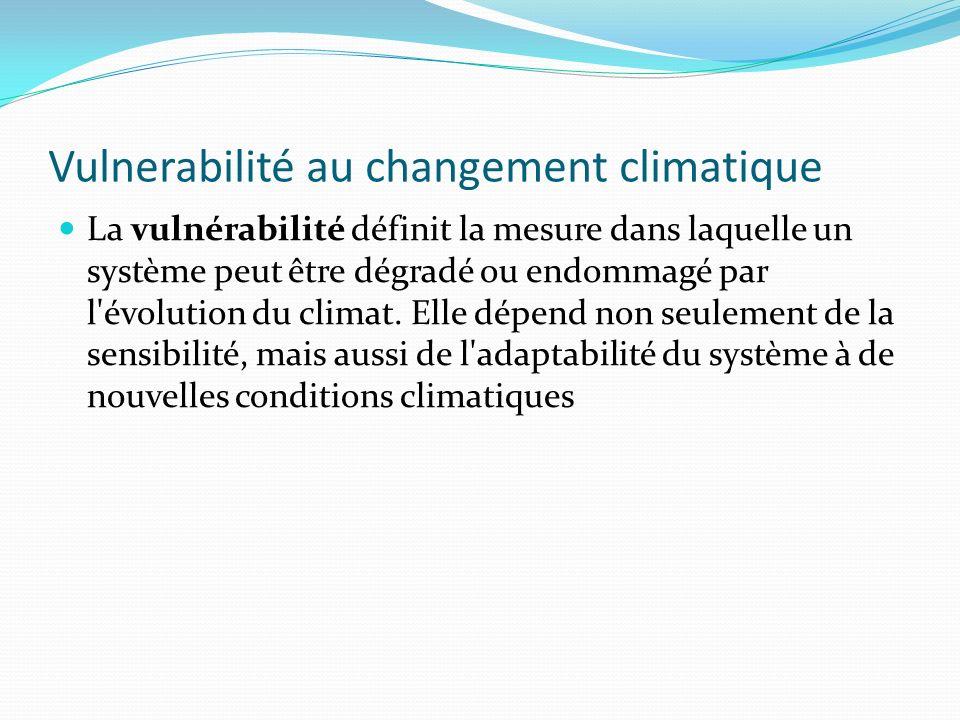 Vulnerabilité au changement climatique
