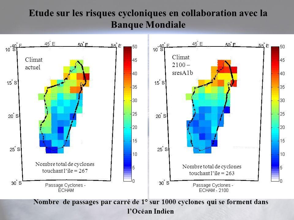 Etude sur les risques cycloniques en collaboration avec la Banque Mondiale