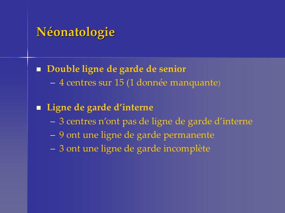 Néonatologie Double ligne de garde de senior