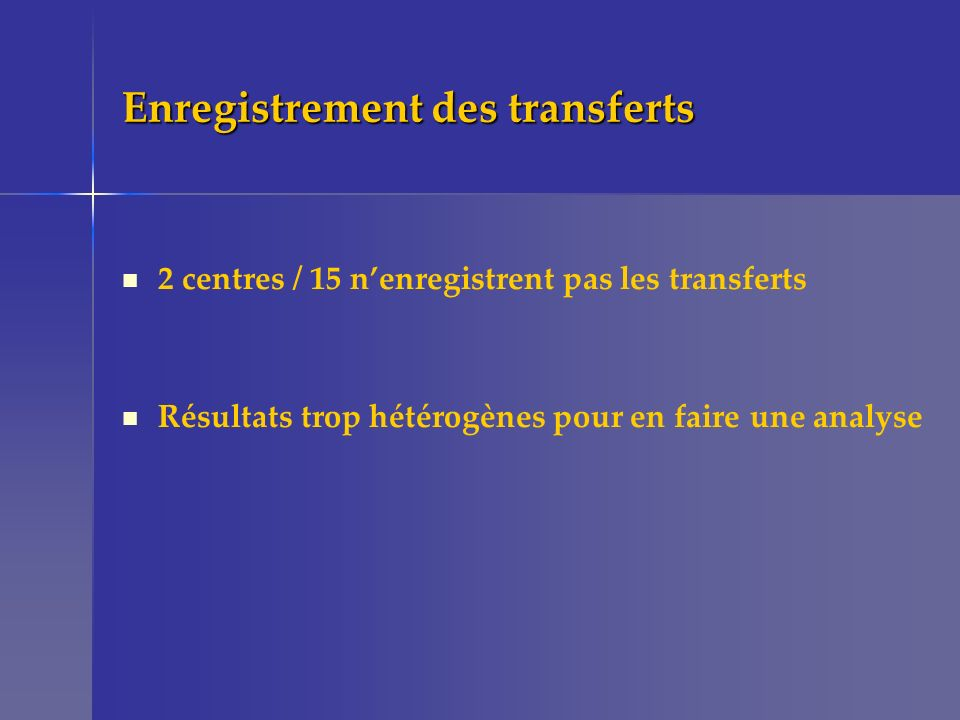 Enregistrement des transferts