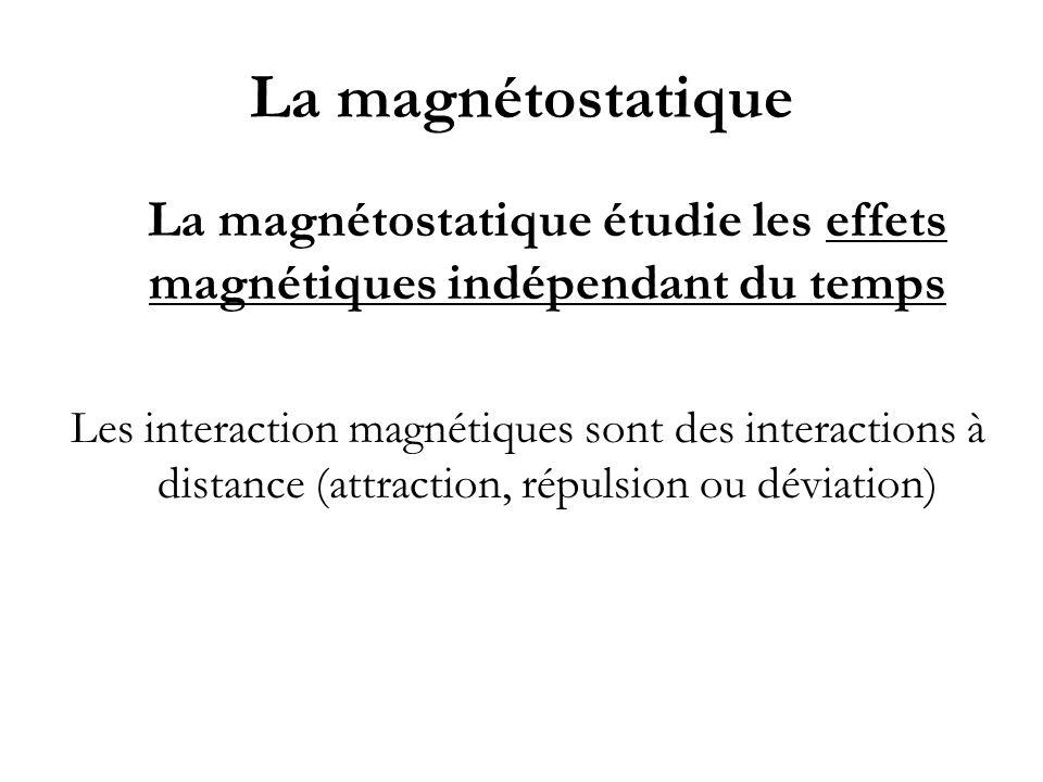 La magnétostatique étudie les effets magnétiques indépendant du temps