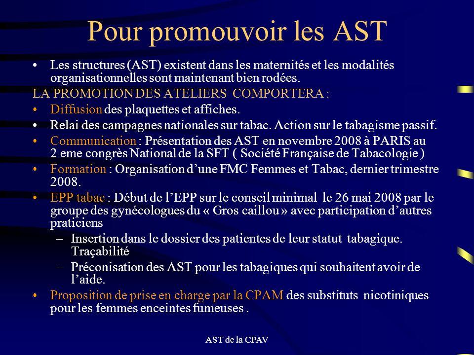 Pour promouvoir les AST