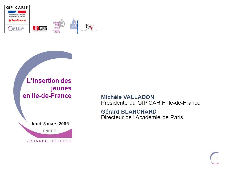 L'insertion des jeunes en Ile-de-France
